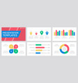 set yellow and blue red green elements vector image