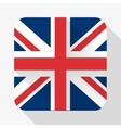 Simple flat icon Great Britain flag vector image vector image