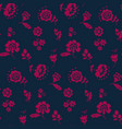 simple floral decorative seamless pattern inspired vector image vector image