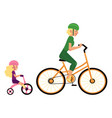 sport family concept with mother and daughter in vector image vector image