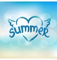 Summer typographic design Hand drawn lettering vector image