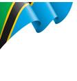 tanzania flag on a white vector image