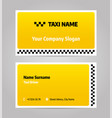 taxi business or visiting card vector image vector image