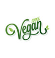 vegan vintage lettering on white background vector image