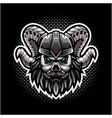viking skull head mascot logo vector image vector image