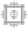 vintage ornamental greeting card template vector image vector image