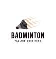 vintage shuttlecock badminton logo icon vector image vector image