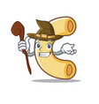 witch macaroni mascot cartoon style vector image vector image