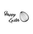 happy easter lettering easter egg vector image