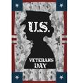 Veterans day vintage poster vector image