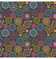 Floral seamless pattern with flowers blooming vector image