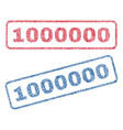 1000000 textile stamps vector image vector image