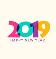 2019 happy new year geometric calendar vector image vector image