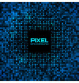 Abstract Pixel Blue Bright Glow Background vector image vector image