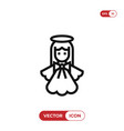 angel icon vector image vector image
