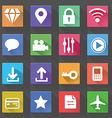 Application Web Icons Set in Flat Design with Long vector image vector image