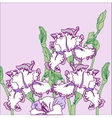 Background with three irises vector image vector image