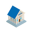 bank building in ancient style isometric icon vector image vector image
