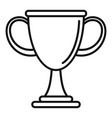 biathlon cup icon outline style vector image vector image