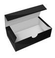 black paper box open empty packaging vector image vector image