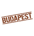 budapest brown square stamp vector image vector image