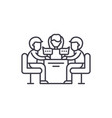 business meeting line icon concept business vector image vector image