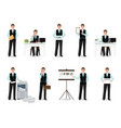 businessman working in smart suit isolated on vector image vector image