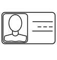 card id identification identity profile icon vector image
