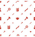 chef icons pattern seamless white background vector image vector image