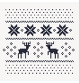 christmas winter pattern print for jersey vector image vector image