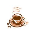 coffee cup symbol icon cafe logo vector image