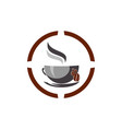 coffee hot coffee cup cafe logo icon vector image