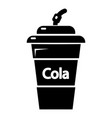 cola plastic glass icon simple black style vector image vector image