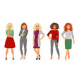 collection women in office clothes vector image vector image