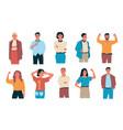 confident people happy cartoon students vector image