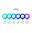 creative concept for infographic with 6 steps vector image vector image