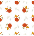 cute seamless pattern with pumpkins and birds vector image vector image