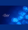 elegant blue bokeh lights background with text vector image