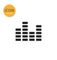 equalizer music icon isolated flat style vector image