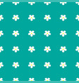 flower pattern on a turquoise background vector image