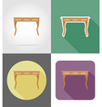 furniture flat icons 27 vector image vector image