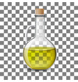 glass bottle of of olive oil vector image