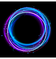 Glowing circle light effect Nightclub lights halo vector image