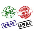grunge textured usaf seal stamps vector image