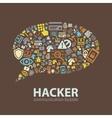 hacker communication bubble vector image vector image