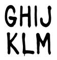 Hand written graffiti font type alphabet part 2 vector image vector image