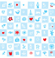 Holland delfts blue seamless pattern with flowers vector image vector image