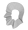 human layer head vector image vector image