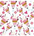 ice cream dessert made milk seamless pattern vector image