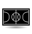 icon playground basketball vector image vector image